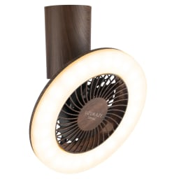 LEDスマートシーリングファン ミニ木目 (イ)本体ブラウン×照明電球色