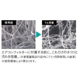 エアコン用除菌・消臭フィルター「ホワイトプラチナム」6枚セット ※すべての菌・ニオイに対して効果を発揮するものではありません。