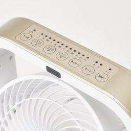 自動首振り機能付き マルチファン 2連 操作部は上部のパネルに集約してあるので見やすく、押しやすい設計。
