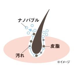 ナノバブルアダプター シャワー用アダプター 微細な泡で毛穴の汚れをすっきり。毛穴よりも小さな泡が、毛穴の中まで入り込み、汚れを洗い流します。肌や頭皮の毛穴汚れをやさしく、さっぱり。