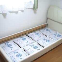 調湿木炭「出雲屋 炭八」 12リットル×4個 特典付き(スマート小袋2個) 家中どんな場所にも使えます。ベッドの下に(画像は12リットル)