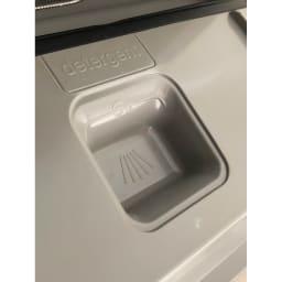 【ディノス先行販売】水栓工事のいらない食器洗浄乾燥機 販路限定カラー 扉の内側にある洗剤入れ場。ここに食洗器専用洗剤を入れて置けば、あとは全自動で食器を洗ってくれます。
