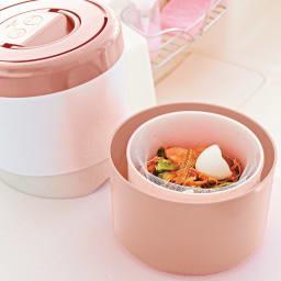 生ごみ減量乾燥機 パリパリキューブライトアルファ 脱臭フィルター2個セット (イ)ピンクゴールド