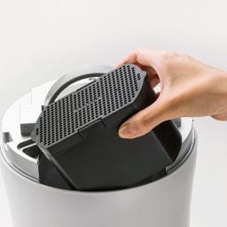 フィルター2個 活性炭フィルター入り脱臭ユニットでニオイもカット。