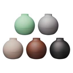 ペーパーPot(ポット) ティッシュケース 1個 全31色 (上段左から)(サ)マットミントグリーン、(ク)マットグレー、(下段左から)(オ)マットベージュ、(カ)マットブラウン、(イ)マットブラック