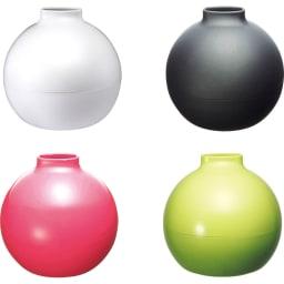 ペーパーPot(ポット) ティッシュケース 1個 全31色 上から時計回りに(ア)ホワイト (イ)マットブラック (ウ)ライトグリーン (ツ)ピンク