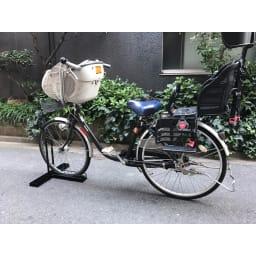 スロープ付き電動自転車スタンド 1台用