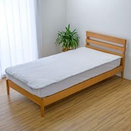 ひんやり除湿寝具 デオアイス エアドライ  敷きパッド (イ)ライトグレー