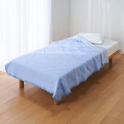 ひんやり除湿寝具 デオアイスエアドライシリーズ さらさらケット (ア)ブルー