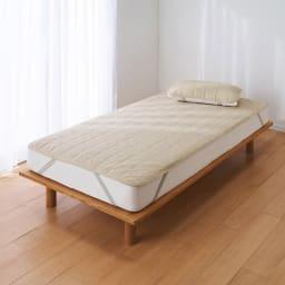 【2019年モデル】長く続く清涼感 麻混ナガークールシリーズ サラサラ織りタイプ 敷きパッド 麻混サラサラ織りタイプ ※お届けは敷パッドです。