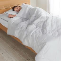 テンセルTM &ガーゼ寝具シリーズ ふわふわコンフォーター (エ)グレー コーディネート例 ※お届けはコンフォーターのみとなります
