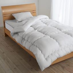 テンセルTM &ガーゼ寝具シリーズ 掛け布団 コーディネート例(エ)グレー ※お届けは掛け布団です。