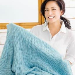 ふわふわ感が長く続く 新・くしゅくしゅ&ふわふわタオル寝具シリーズ タオルケット 「この肌に沿う伸縮性がたまらない! 大人っぽくて可愛い色も、インテリアの一部になってくれる。本当に愛着のわく寝具です」