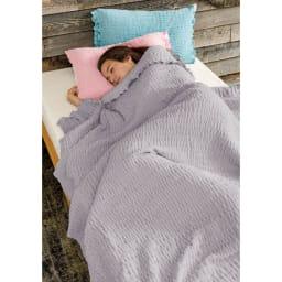 ふわふわ感が長く続く 新・くしゅくしゅ&ふわふわ タオル寝具シリーズ タオルシーツ (ア)ホワイト(※。お届けはタオルシーツのみとなります。)
