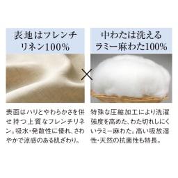 ファミリー布団用 洗える本麻敷きパッド(ファミリーサイズ・家族用)