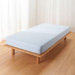 ファミリー布団用 洗える本麻ボックスシーツ(ファミリーサイズ・家族用) (エ)ブルー
