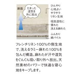 洗える本麻シリーズ ピローパッド(1枚)