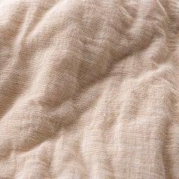 先染めパシーマ(R)でつくったお布団(衿カバー付き) シングル ライトブラウン 生地アップ