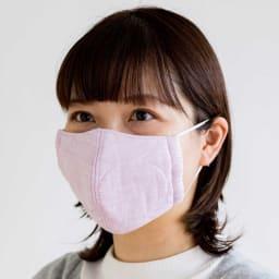 パシーマの生地でつくったマスク 子供用サイズ 2枚組 (出来上がり寸約7×13.5cm) (エ)パープル