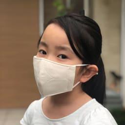 パシーマの生地でつくったマスク 子供用サイズ 2枚組 (出来上がり寸約7×13.5cm) (着用例)子供用サイズ