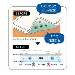 吸湿消臭ブロックマット お布団の下は湿気によるダメージが!