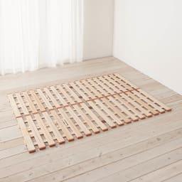 気になる湿気対策に薄型・軽量桐天然木すのこベッド ロールタイプ 写真は、2つ折りタイプです。(サイズイメージ)