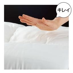 ミクロガード(R)プレミアムシーツ&カバーシリーズ ベッドシーツ たたいてもホコリが出にくい!寝室の掃除もラクに。