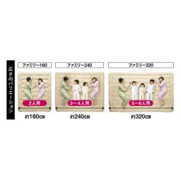 ファミリー160 (敷布団プロテクター デラックスタイプ)