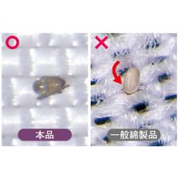 ミクロガード(R)プレミアム布団シリーズ ふんわり掛け布団 防ダニ剤なしでダニ対策できます 防ダニ剤不使用なので、小さなお子さまも安心。ダニはもちろん、さらに微細なフンや死骸さえも通しにくい生地です。