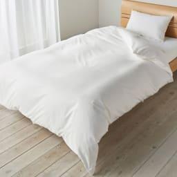 ミクロガード(R)防ダニ用寝具プロテクター 掛け布団用 シングル お使いの掛け布団の上に防ダニカバーをセットし、その上にカバーリングをしてお使いください!