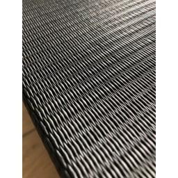 気になる湿気対策に!和モダン黒畳折りたたみベッド ハイタイプ(高さ40cm) 消臭や湿気などに対応した炭入りの樹脂製パイプの畳なので、一年中快適に爽やかにお使いいただけます。