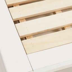 照明付きステージすのこベッド フレームのみ 床板はすのこ仕様で布団もご使用できます。