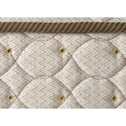 フランスベッド棚照明付きベッド マルチラススーパースプリングマットレス付き マットレスの側面には湿気を逃がす空気孔付き。