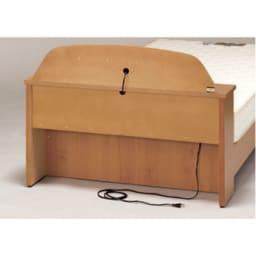 フランスベッド 棚照明付きベッド 羊毛綿入りマルチラススプリングマットレス付き ヘッド裏コード