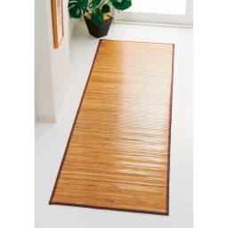 竹マット 写真は約80cmタイプです。 ((ア)ライトブラウン)
