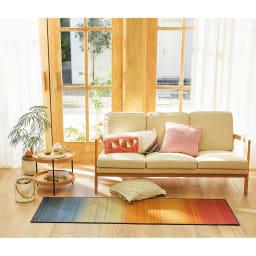 い草のマット〈畳ヨガ〉ジョイ インテリア空間に手軽に取り入れられる、い草素材の夏のパーソナルマットです。