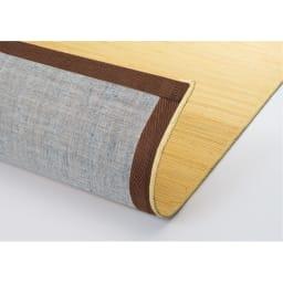39穴籐廊下敷 裏面:フローロングの傷をつきにくくするため、裏面に綿布を貼っています。