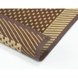 紋織い草ラグ「まどか」(裏なし/裏付き/ふっくらタイプ) 【裏なしタイプ】通気性が良いのが特徴です。畳の上にもご使用いただけます。