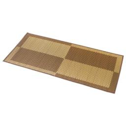 紋織い草ラグ「まどか」(裏なし/裏付き/ふっくらタイプ) (ア)ブラウン系 ※写真は約95×190cmタイプです。