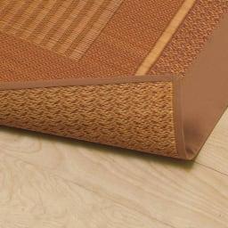 紋織りい草ラグ裏なし・太ベリ〈ランクス〉 【裏なし・厚さ約2mm】い草本来の触感や清涼感を活かした裏なしタイプ。