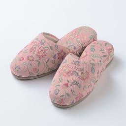 MINTON スリッパ 〈ハドンホール〉色が選べる2足組 (ア)ピンク系