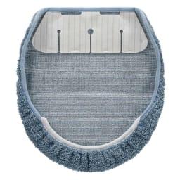 PLYS(プリス)ソフィ「乾度良好(R)」トイレタリー フタカバー・マットセット 裏面:簡単取り付けのフタカバーは、洗濯しても繰り返し使える吸着シート付き。