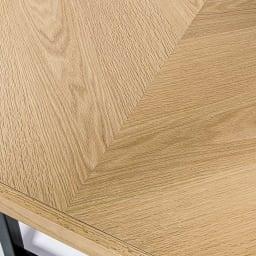 北欧調ヘリンボーンダイニングシリーズ ダイニングテーブル幅150cm 表情豊かなヘリンボーン柄。お部屋に遊び心をプラスしてくれます。