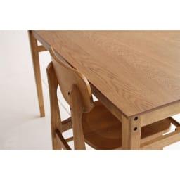 コンパクトなブルックリン風シリーズ ダイニングテーブル 幅75cm チェア収納イメージ