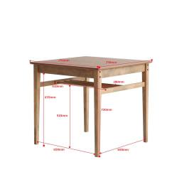 コンパクトなブルックリン風シリーズ ダイニングテーブル 幅75cm
