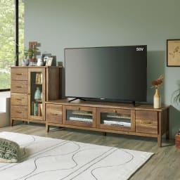 男前なブラウンヴィンテージ調シリーズ テレビ台 幅105cm ※写真のテレビ台は幅152cmタイプです。