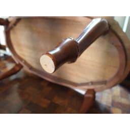 イタリア製象がんシリーズ リビングテーブル 幅100cm 脚部には、床を傷つけないよう保護するフェルトシールを付属しております。