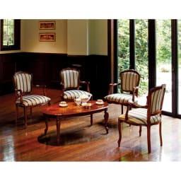 イタリア製象がんシリーズ リビングテーブル 幅100cm 上質なイタリアン家具で、ホテルのような空間づくりを演出します。