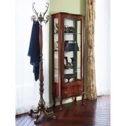 イタリア製 収納家具シリーズ 木製ウッドポールハンガー 高級感のあるイタリア製のハンガーポールです。