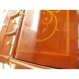 イタリア製 象がん 収納家具 猫脚 コンソール チェスト キャビネット 一つひとつ個性が垣間見える象嵌細工。